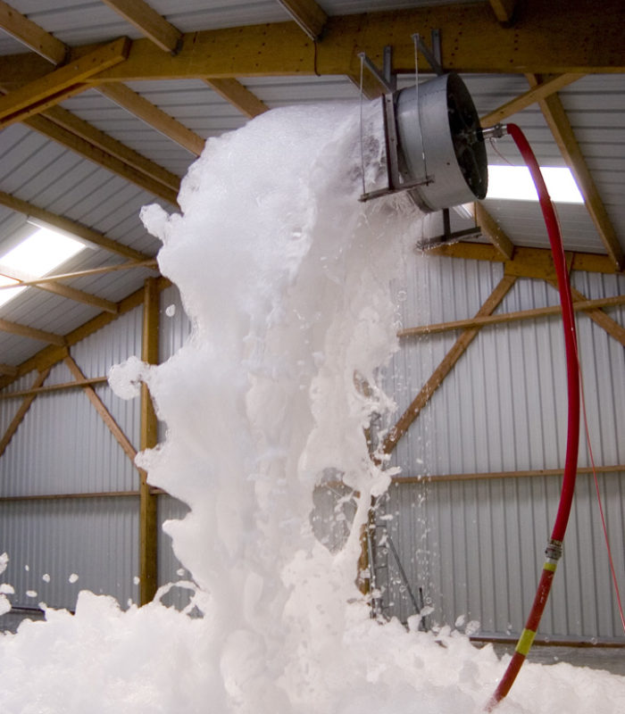 high expansion firefighting foam generating