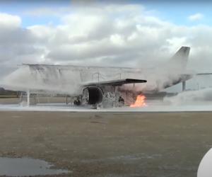 ECOPOL A+ fluorine free foam for aircraft fires