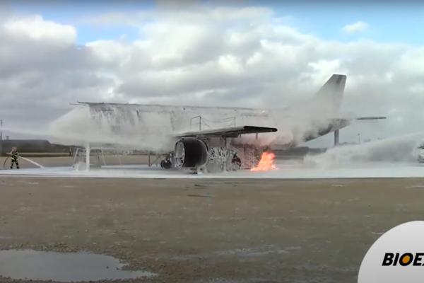 ECOPOL A+ fluorine free foam aircraft fires