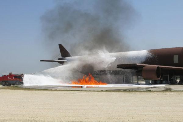 espumógeno de extinción de incendios en avión a-b747