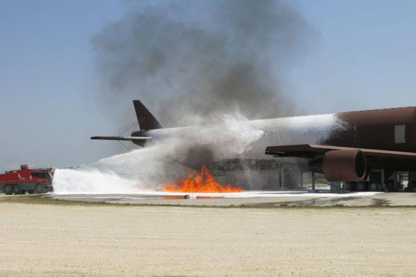 airplane a-b747 firefighting foam