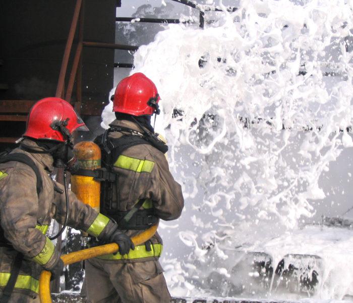 firefighting foam training exercise