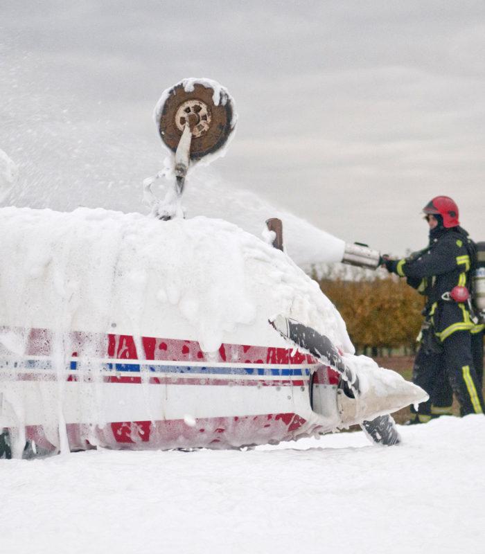 emulseur anti incendie avion