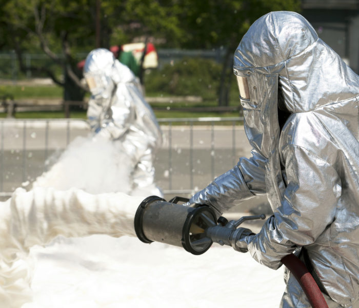 firefighting foam concentrate performance test on fire