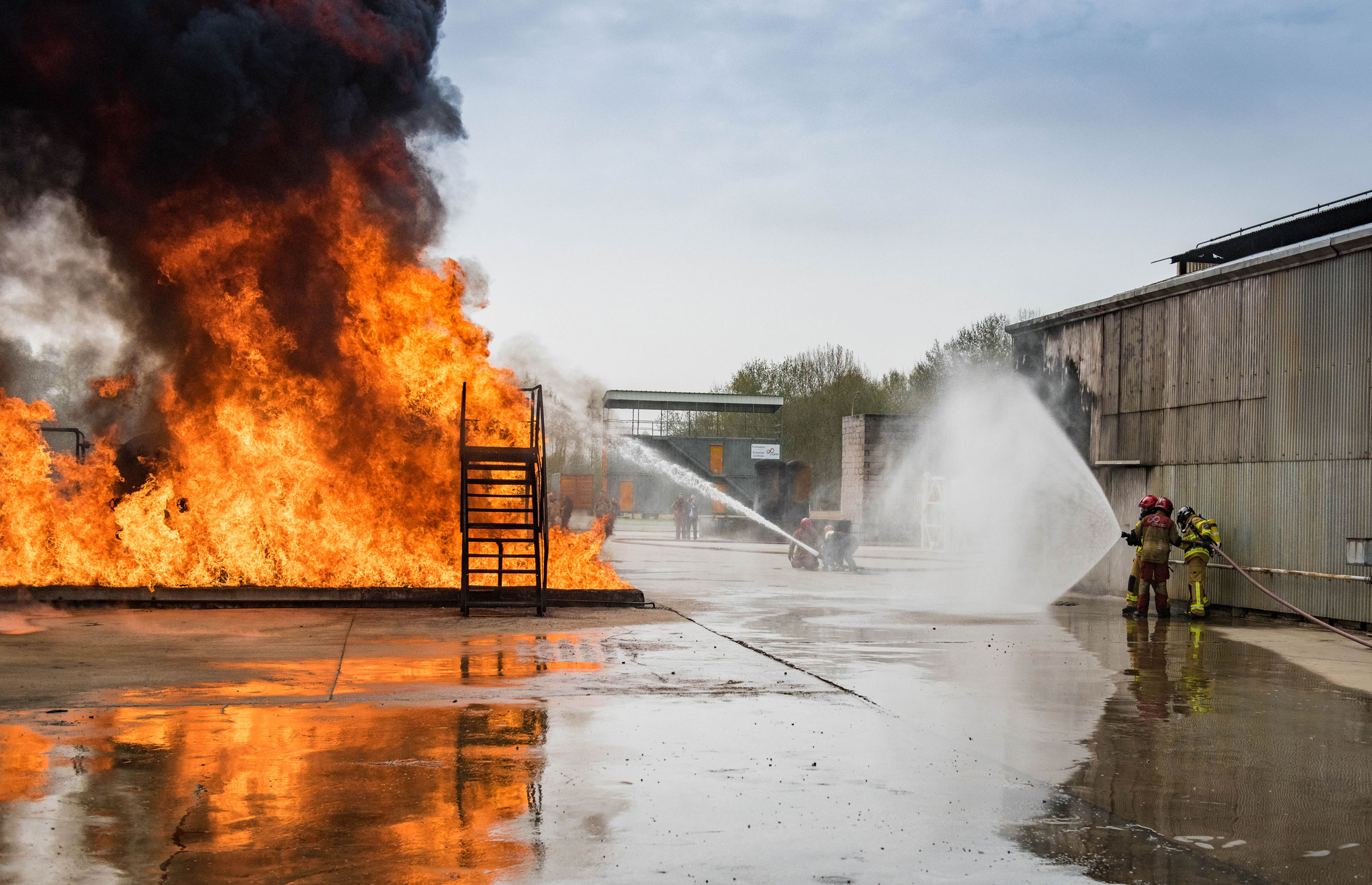 hydrocarbon fire training exercise